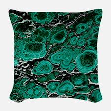Malachite Woven Throw Pillow