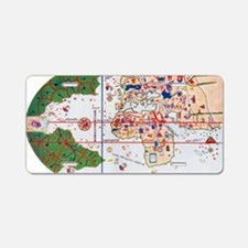 Mappa Mundi by La Cosa in 1 Aluminum License Plate