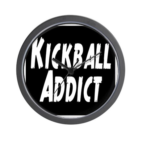 Kickball Addict Wall Clock