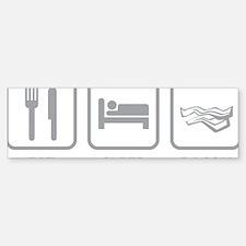 EatSleepBacon1E Bumper Bumper Sticker
