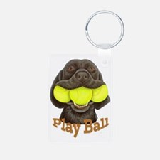 Play Ball, Labrador with T Keychains