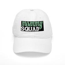 Mommy Squad Logo on Black Baseball Cap
