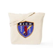 uss rich dde patch transparent Tote Bag