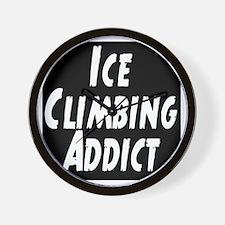Ice Climbing Addict Wall Clock