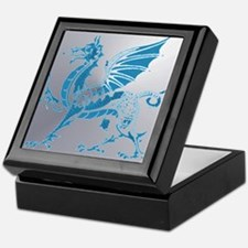 Blue  Silver Dragon Keepsake Box