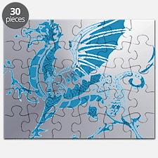 Blue  Silver Dragon Puzzle