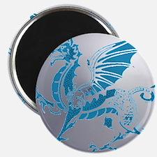 Blue  Silver Dragon Magnet