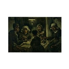 The Potato Eaters by Vincent van  Rectangle Magnet