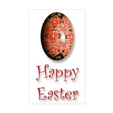 'Happy Easter' Rectangle Decal