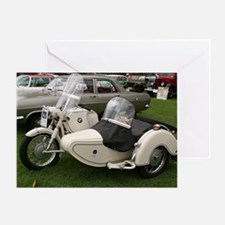 BMW Motorcycle with Sidecar Greeting Card