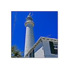 "Gibbs Hill Lighthouse Square Sticker 3"" x 3"""