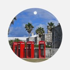 Royal Naval Phone Booths Round Ornament