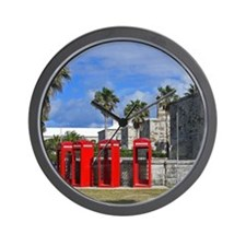 Royal Naval Phone Booths Wall Clock