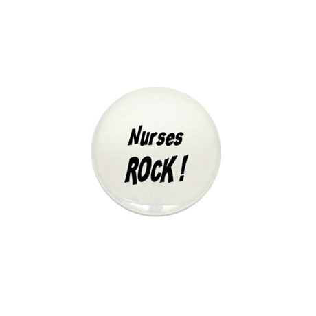 Nurses Rock ! Mini Button (10 pack)