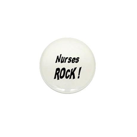 Nurses Rock ! Mini Button (10 pack)
