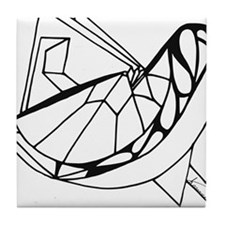 Paper Bird Tile Coaster