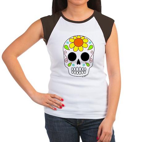 Girasol Sugar Skull Women's Cap Sleeve T-Shirt