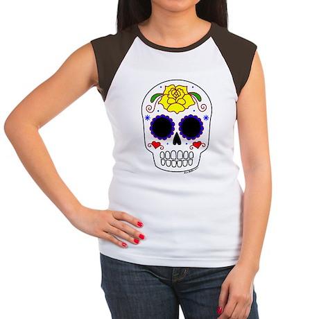 Rosa Amarillo Sugar Sku Women's Cap Sleeve T-Shirt
