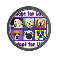 Adopt for Love, Adopt for Life Wall Clock
