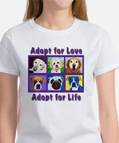 Adopt for Love, Adopt for Life Women's T-Shirt