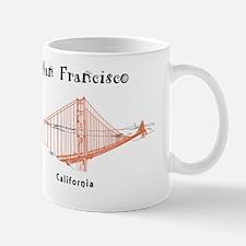 SF_10In12_GoldenGateBridge_BrownBlack Mug