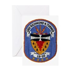 uss richmond k. turner cg patch tran Greeting Card