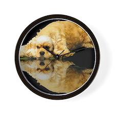Cocker Reflection Wall Clock