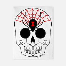 Black Widow Sugar Skull Twin Duvet