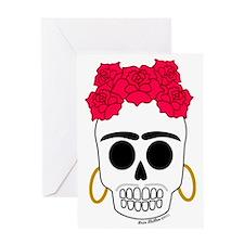 Frida Calaca light garment Greeting Card