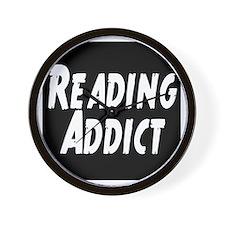 Reading addict Wall Clock