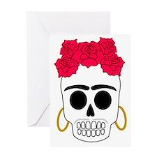 Frida Calaca dark garment Greeting Card