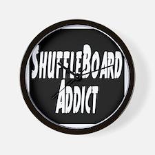 Shuffleboard Addict Wall Clock