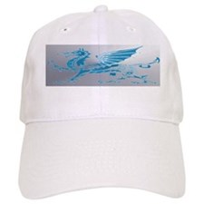 Blue  Silver Dragon Baseball Cap