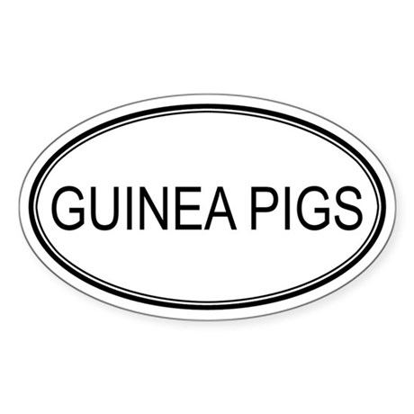 Oval Design: GUINEA PIGS Oval Sticker