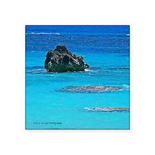 "Warwick Beach reefs Square Sticker 3"" x 3"""