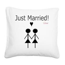 Lesbian Marriage Square Canvas Pillow