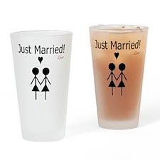 Lesbian Marriage Drinking Glass