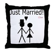 Just Married Throw Pillow