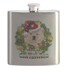 Merry Christmas Chow Chow Flask