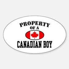 Property of a Canadian Boy Oval Decal