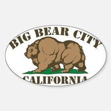 Big Bear City, California Sticker (Oval)