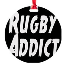 Rugby Addict Round Ornament