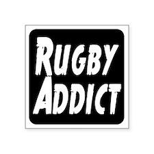 "Rugby Addict Square Sticker 3"" x 3"""