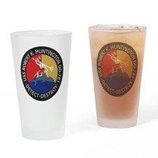 uss robert k. huntington patch tran Drinking Glass