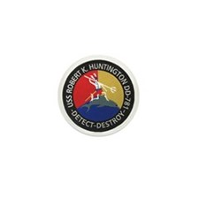uss robert k. huntington patch transpa Mini Button