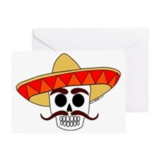 Ranchero Calaca light garment Greeting Card