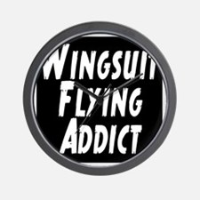 Wingsuit flying addict Wall Clock
