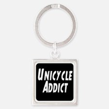 Unicycle Addict Square Keychain