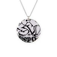 Keep On Pluckin Necklace Circle Charm