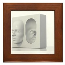 Hollow-face illusion,artwork Framed Tile